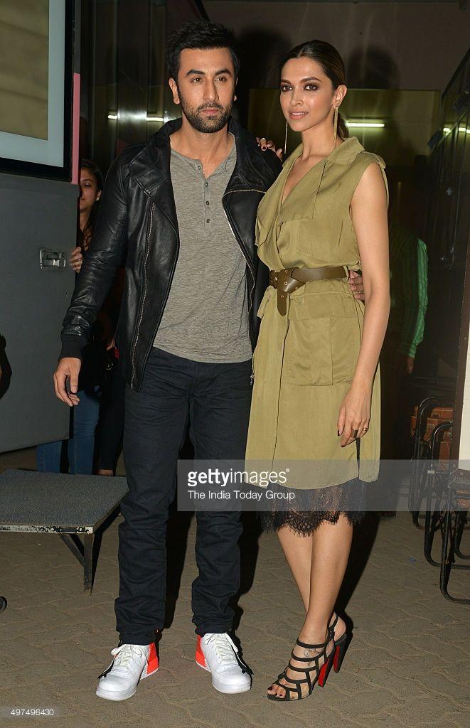 Ranbir Kapoor and Deepika Padukone d during the promotion of their upcoming movie Tamasha in Mumbai.