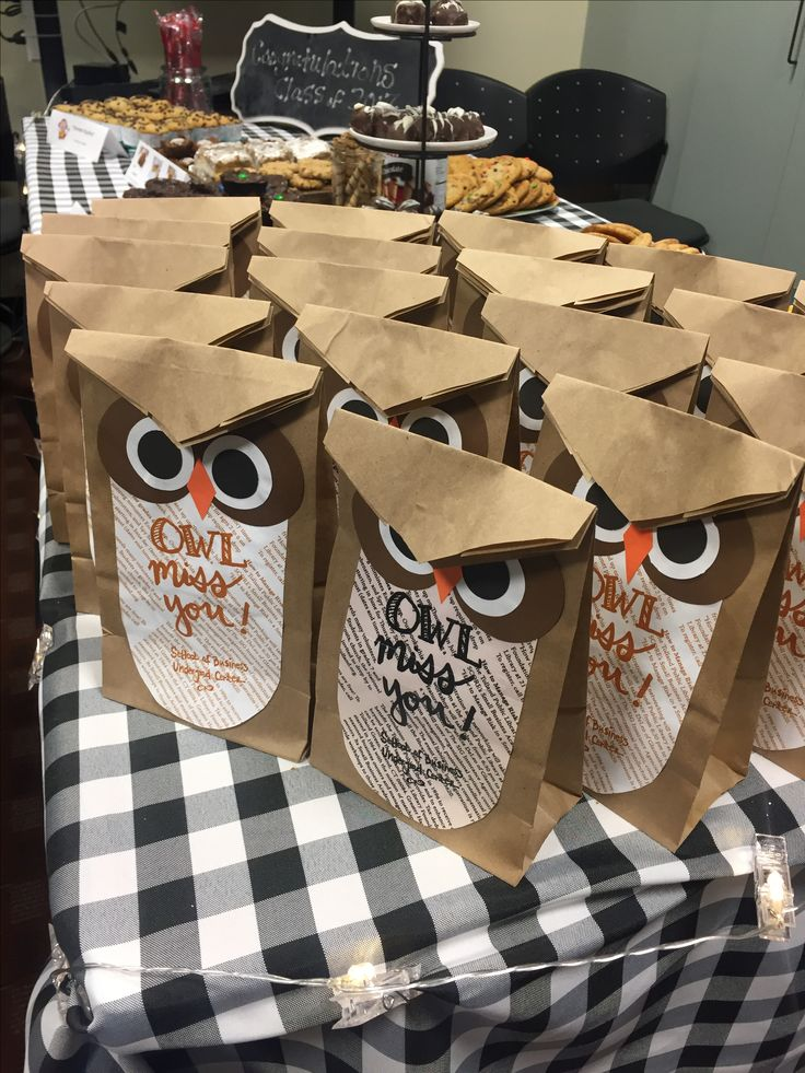owl miss you bags for end of school year gifts for students.