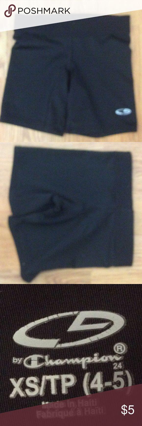 Black champion cheer shorts Used once Champion Bottoms Shorts