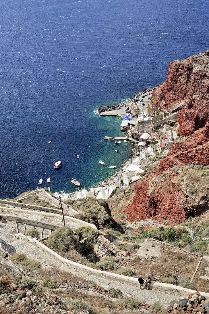 Santorini Port at Oia Santorini Greece // Local Adventurer