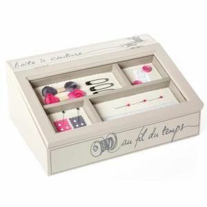 Boîte à couture bois pupitre - Achat / Vente boite a couture Boîte à couture bois pupitre - Cadeaux de Noël Cdiscount