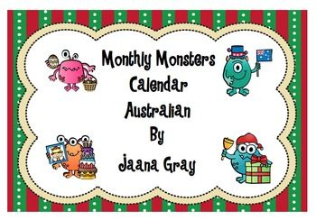 This monster themed 'Months of the year' set is perfect for any classroom to display or learn about the months and the Australian seasons.  Contents 1.	Months of the year poster 2.	Colour Calendars with and without numbers 3.	Create your own calendar black and white 4.