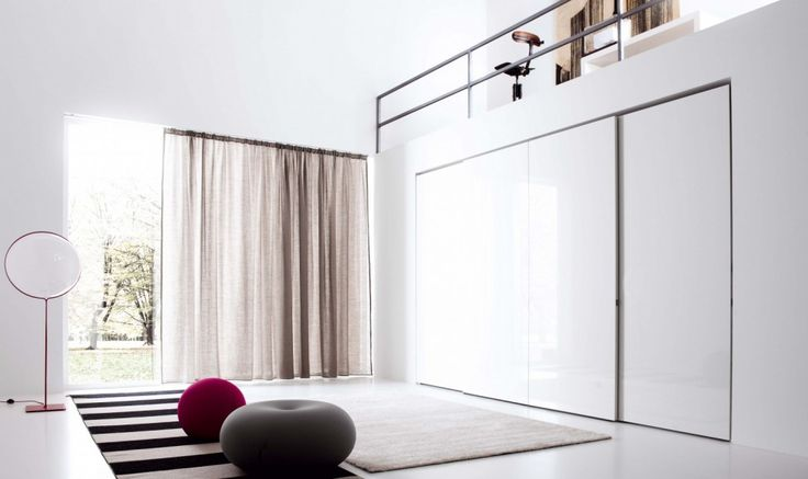Contemporary fitted wardrobe - in white color