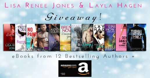 Enter to win a $50 gift card or 12 ebooks from bestselling authors!!