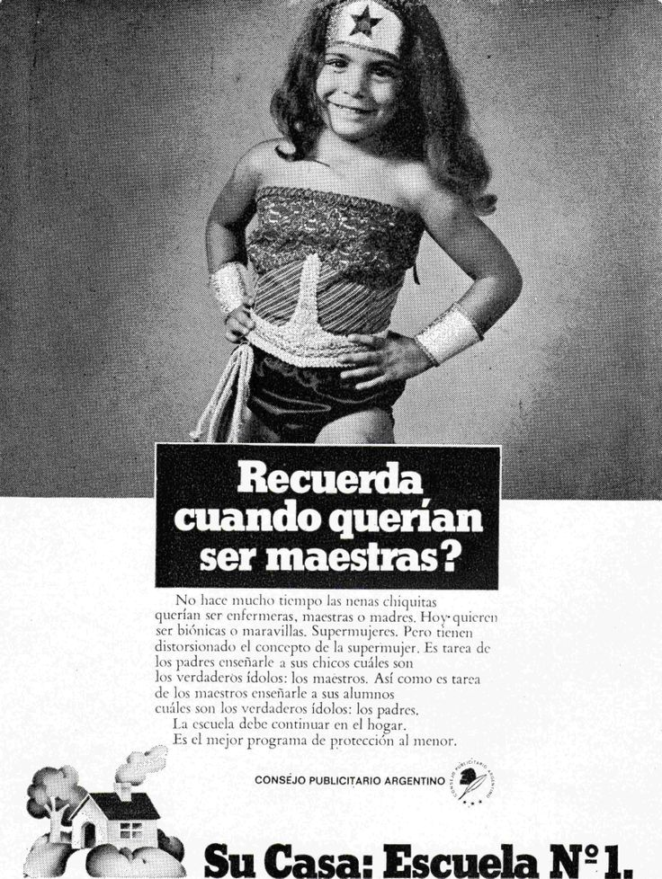"""""""Su casa; Escuela Nº 1""""-1977"""