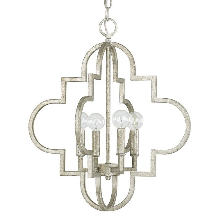 Contempo Arabesque Chandelier Small Island Pendants Silver And Bath
