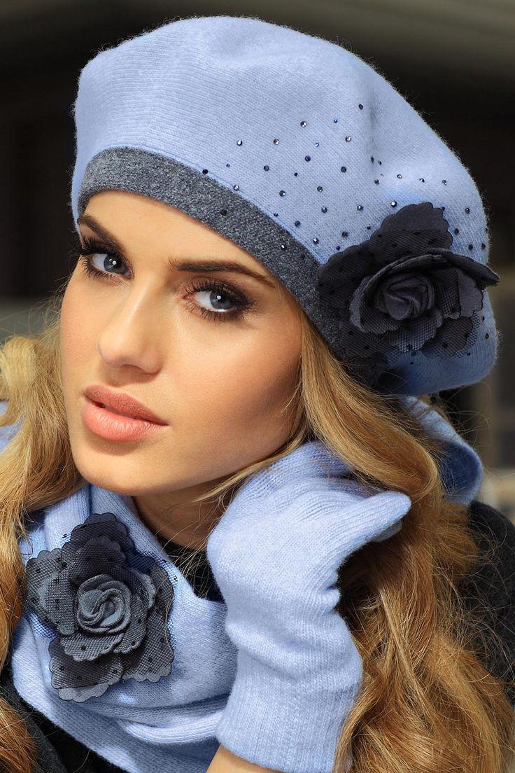 Modny, dwukolorowy beret Daniela marki Kamea || kontri.pl  #kamea #beret #czapka