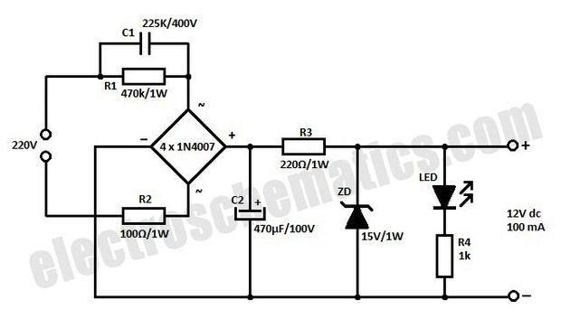 Transformer Less 12V Power Supply Out of LED Bulb ...
