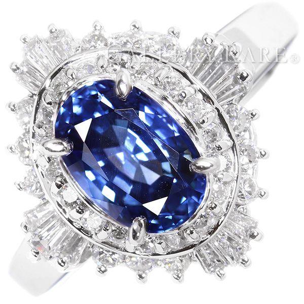 サファイア リング ブルーサファイア 1.94ct ダイヤモンド 0.74ct プラチナ900 Pt900 リングサイズ約15号 ジュエリー 指輪 サファイヤ ダイアモンド