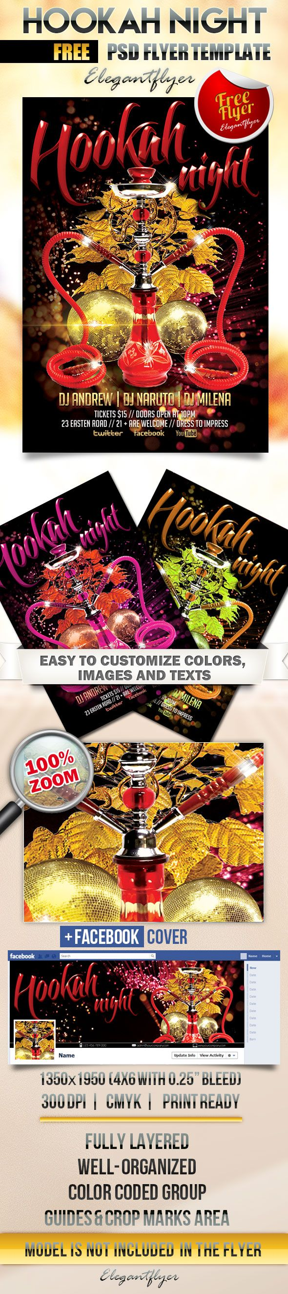 best images about psd flyer design  hookah night flyer psd template facebook cover