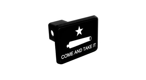 Trailer Hitch Cover - Come and Take It Texas Revolution Battle of Gonzales Flag
