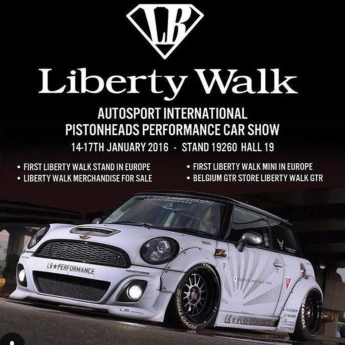 The first Liberty Walk Mini Cooper S will be released at Autosport International next week! LibertyWalk first UK Show with our official UK Dealer( @libertywalkuk @theperformanceco ) by libertywalkkato
