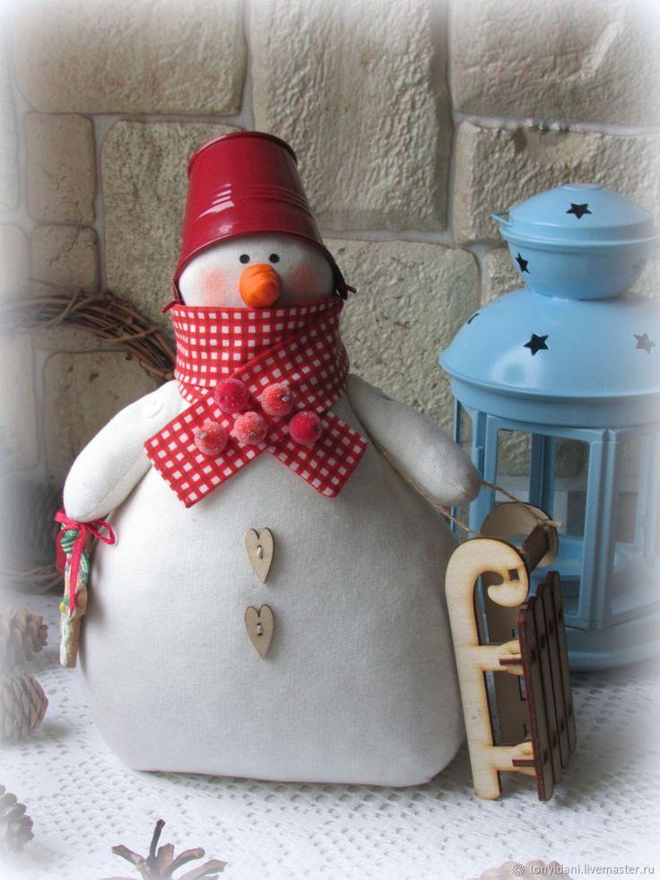 Купить Снеговик в стиле Тильда в интернет магазине на Ярмарке Мастеров