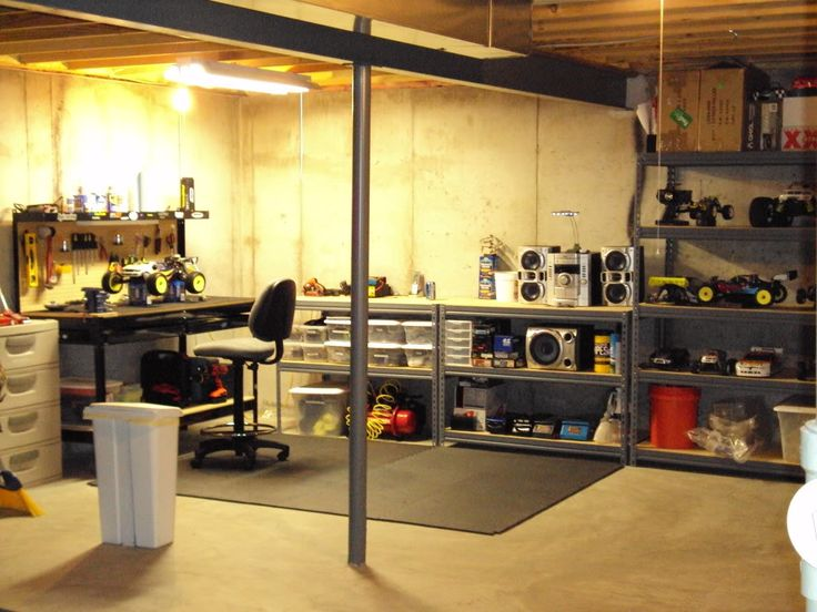 unfinished basement for the home pinterest storage ideas