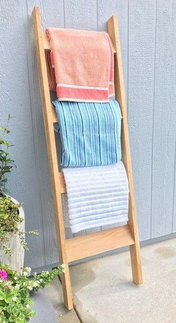 Teak Indoor/Outdoor Towel Rack