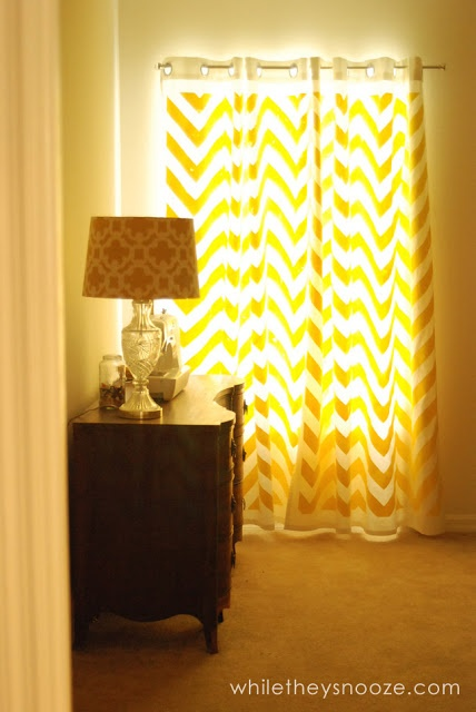 Cool Chevron curtains. It's a really easy project.