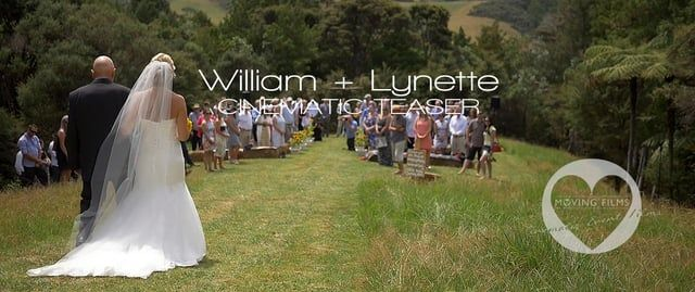 Cinematic teaser trailer for William and Lynette, married at the bride's family farm in Dairy Flat, Auckland, NZ on Saturday, 13th February 2016.  The whole day was filled with so much love and laughter and was one of the most fun weddings we've filmed.  Congratulations you two!  It's going to even more fun putting together your full highlights!  see www.movingfilms.co.nz for more info.