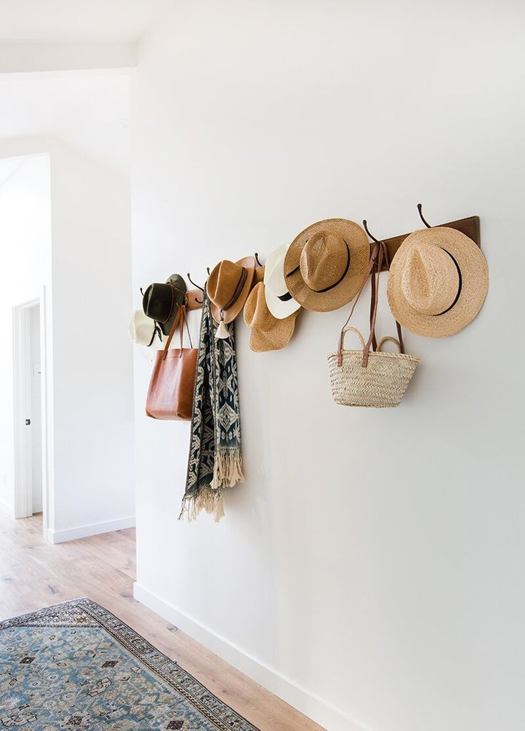 The Styling Secret of Wall Mounted Hooks - Emily Henderson