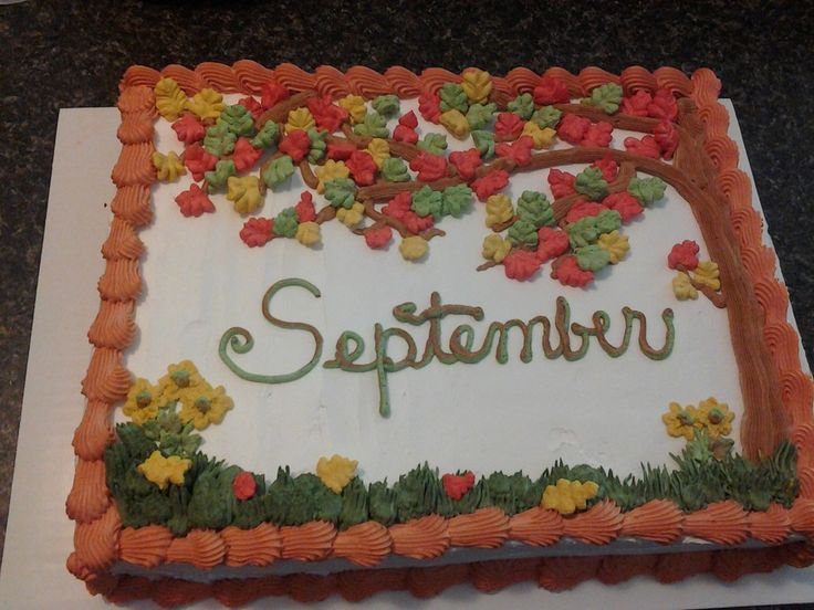 Chocolate cake with whipped icing for September B-days at school!
