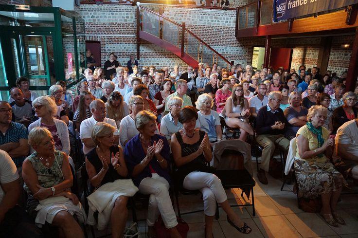 """Soirée conte du 05-08-2015 à Sotteville-sur-Mer menée par Reynald Flory et Gil Picard-Denous dans """"Caux Z'ries entre amis"""" ©G.Durand"""