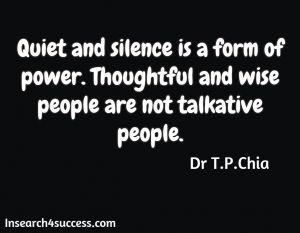 Why silence can actually help you achieve success >>> http://www.Insearch4success.com/success-and-shutting-up/