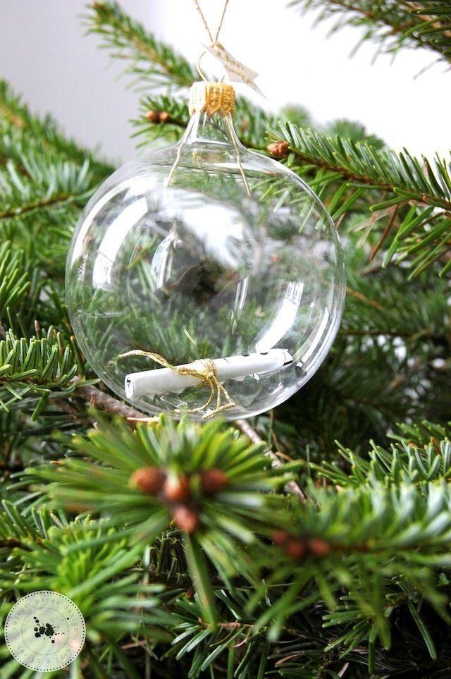Cum ar fi, ca peste 20 de ani, să puteți deschide o cutiuță în care să fie notate câteva dintre cele mai importante lucruri care vă defineau la 2,3...10... 18 ani?  în fiecare an, în apropierea Crăciunului, îi voi pregăti copilului meu două ornamente speciale: două globuri transparente din sticlă, unul care va conține lista cu darurile pe care și le-a dorit în acel an și altul în care voi scrie cele mai importante trăsături care o definesc ca și personalitate și evoluție, în acel moment.
