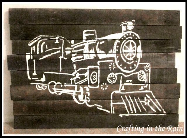 Train Pallet Art | Crafting in the Rain #pallets #train