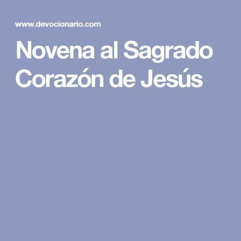 Novena al Sagrado Corazón de Jesús