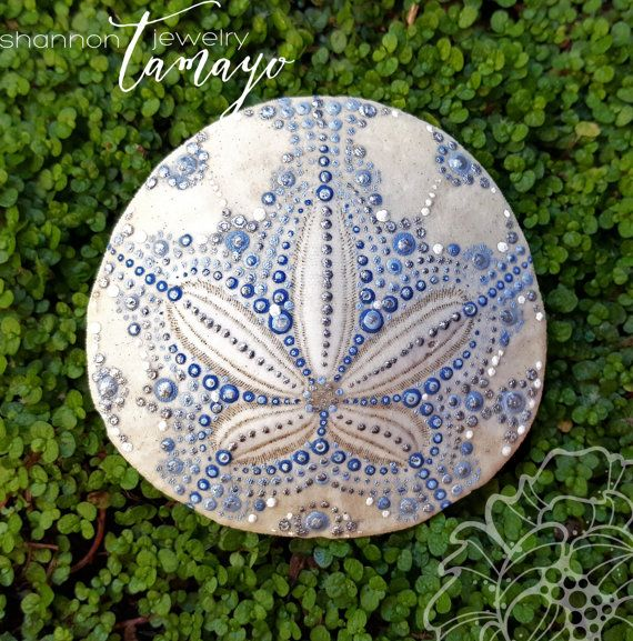 Hand Painted Sand Dollar Beach Art Ocean by ShannonTamayoJewelry