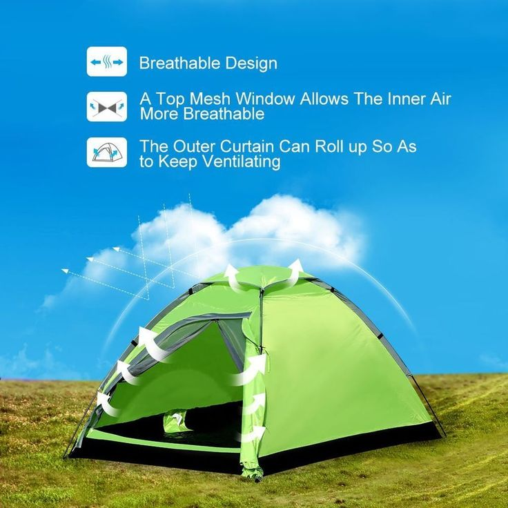 Camping Tent 2 Person Waterproof Tents Hiking Backpacking with Carrying Bag Dome #CampingTent