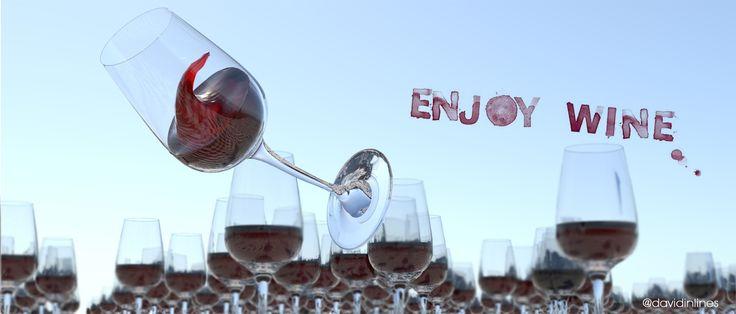 #Enjoy #Wine #MadeIn1Hour #3d #GraphicDesign #Arnold #Maya #ZBrush #ClassicRender