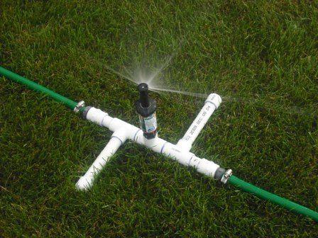 a three head sprinkler for odd lawns - Garden Sprinkler Design