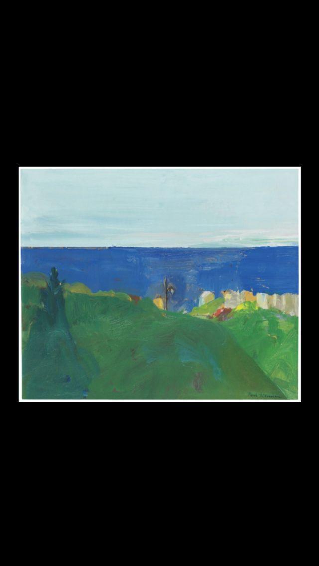 Paul Wonner, 1968, Landscape