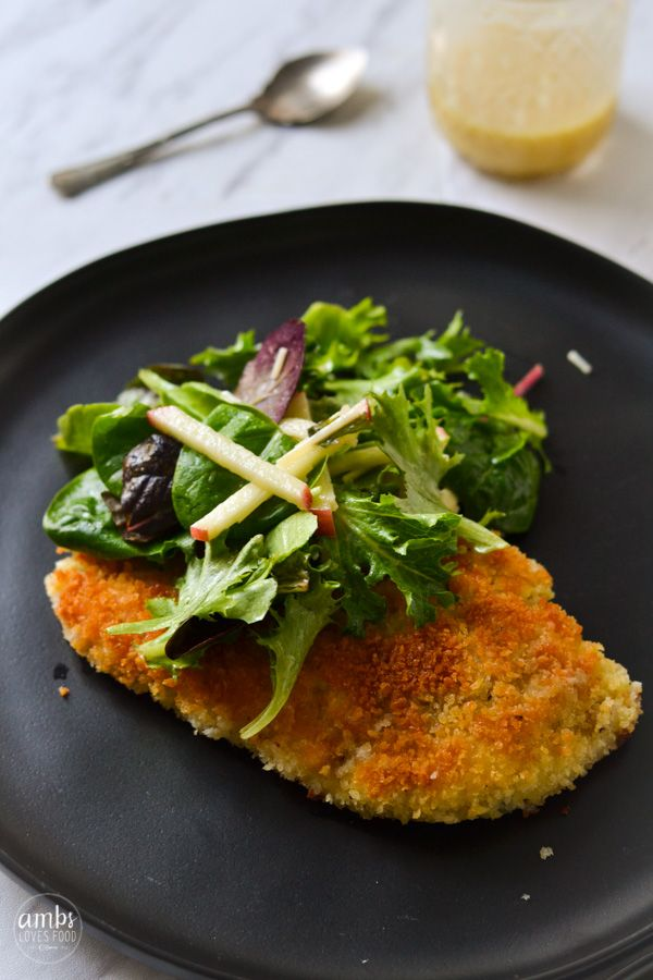 Chicken Milanese With Greens Recipe Diy From Food Bloggers