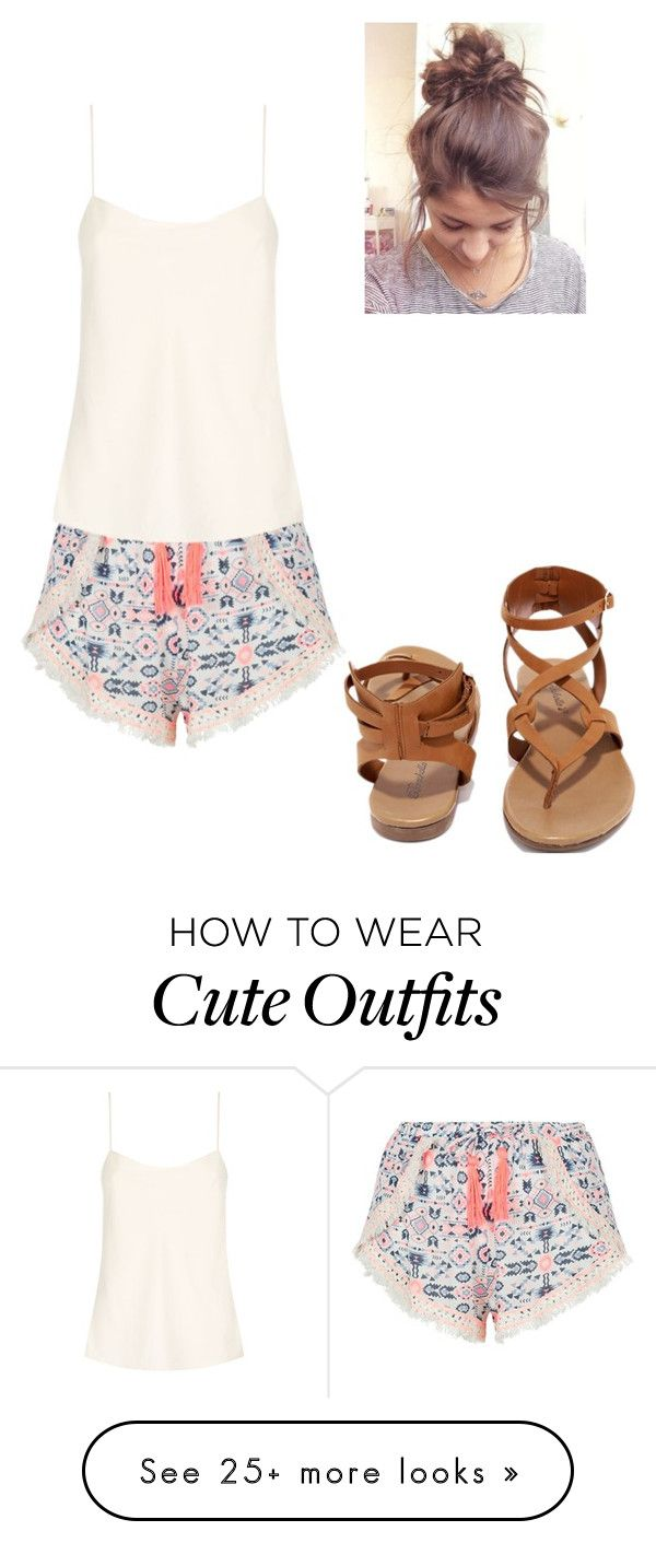 """Cute Summer Outfit"" by puglover14 on Polyvore featuring New Look, The Row and Breckelle's"