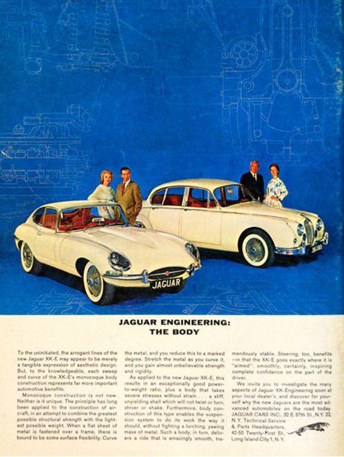 Jaguar long form print ad 1963