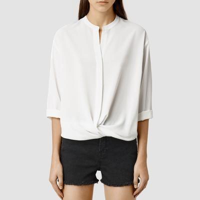 good for the summer #whiteshirt #collarless #detail #allsaints #covetme