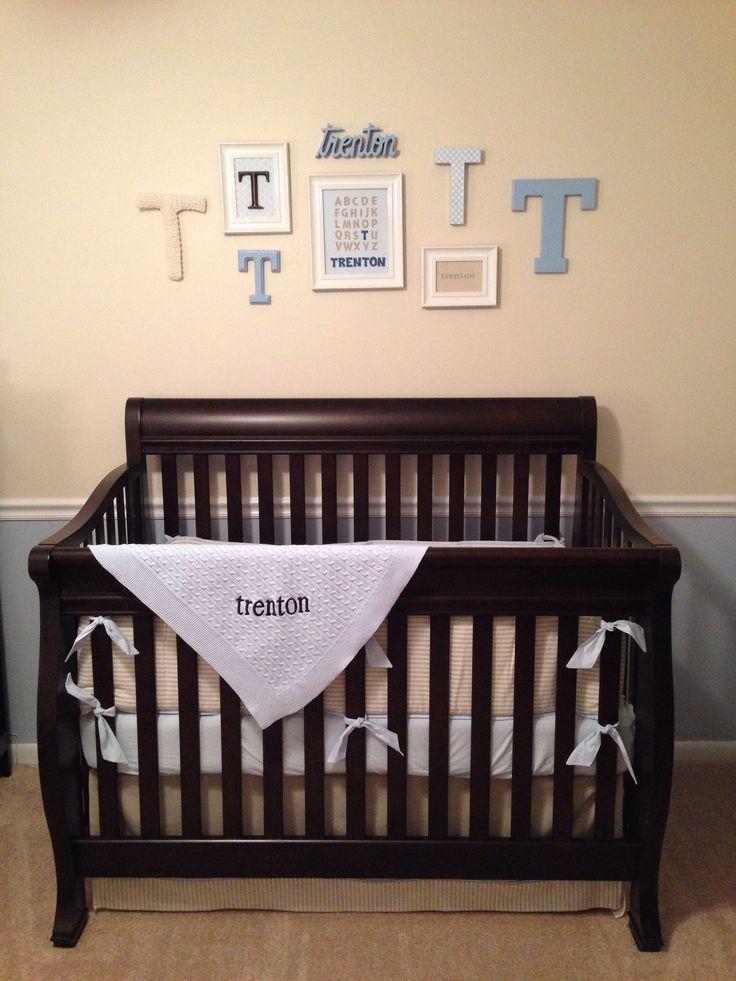 baby boy nursery - crib