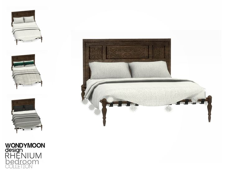 - Rhenium Bedroom - Bed Blanket  Found in TSR Category 'Sims 4 Miscellaneous Decor'