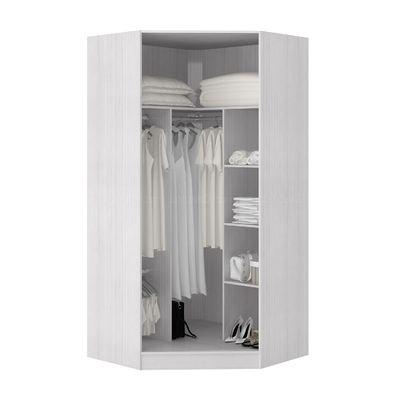 Guarda-roupa Modulado Canto Closet em MDF Fiore Ciliégio/Branco - Casamia