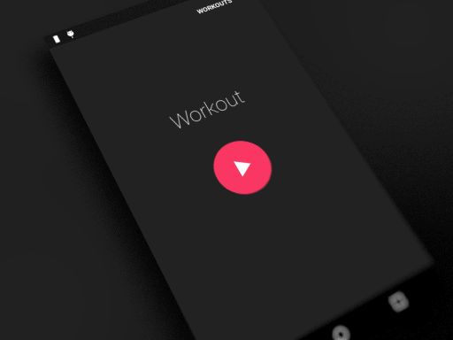 Gif demonstration of Hybrid Interval Timer android app for tabata and hiit workouts, with nice material design.