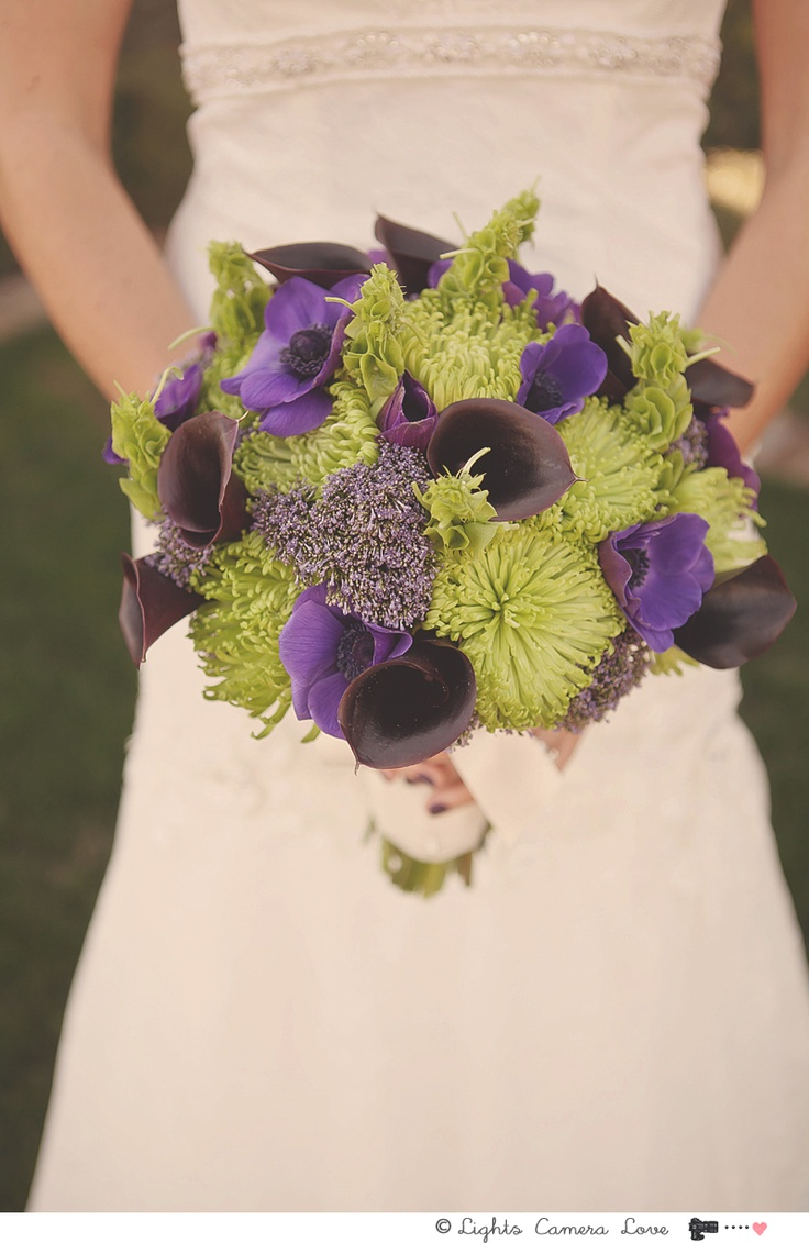 Bridal Rachel Purple Green Lily More Wedding Ideas At