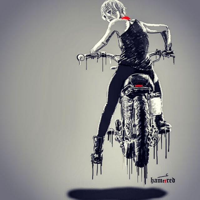 Image result for Badass Motorcycle Art by Hamerred49