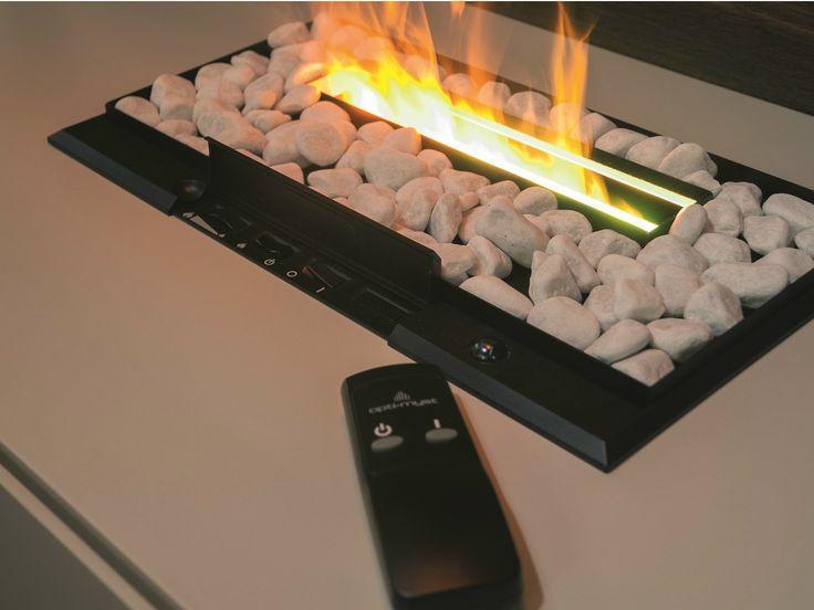 Chimenea eléctrica empotrada con mando a distancia Colección I-modulART by Presotto Industrie Mobili | diseño Pierangelo Sciuto