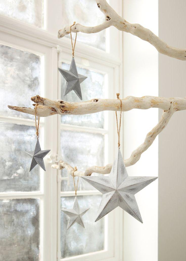 """Dekoracja wisząca """"Gwiazdy świąteczne"""" (4 szt.) • 44.99 zł • bonprix"""