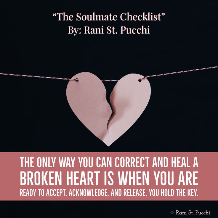"""The only way you can correct and heal a broken heart is when you are ready to accept, acknowledge, and release. You hold the key. My Amazon Best Seller The """"Soulmate Checklist"""" is Available to purchase today on Amazon https://www.amazon.com/dp/0997697768/ref=sr_1_1?s=books&ie=UTF8&qid=1480513915&sr=1-1&keywords=9780997697766&utm_content=buffer7fd0a&utm_medium=social&utm_source=pinterest.com&utm_campaign=buffer"""