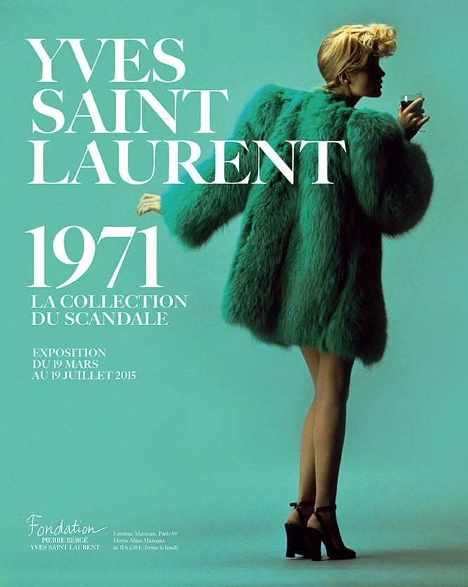 Yves Saint Laurent 1971nouvelle exposition à la fondation dès le 19 Mars 2015