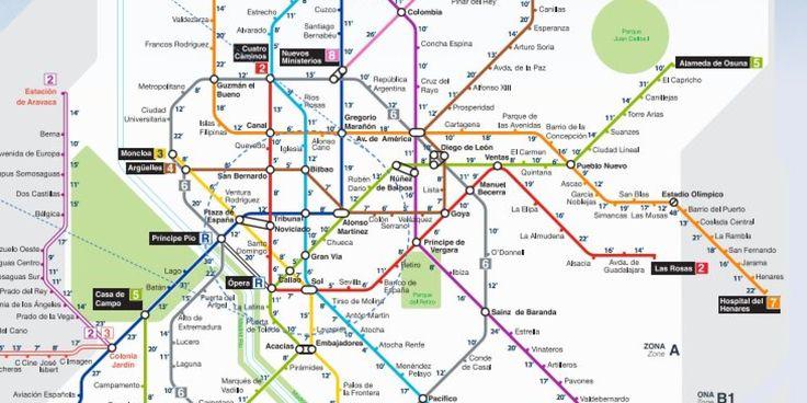 El metro de Londres triunfó hace unos meses al publicar un mapa oficial que indica cuánto se tarda andando entre paradas. Siguiendo esa misma idea, la empresa Geoblink ha creado ahora un