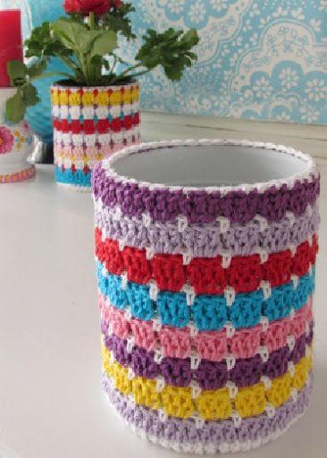 Красивые кашпо для цветов крючком со схемами | Уют и тепло моего дома