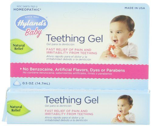 Hyland's Baby Teething Gel Natural Homeopathic Baby Teething Pain and Irritability Relief 0.5 Ounce